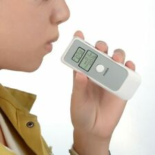 Dual Alcohol Tester Dual LCD Display Digital Breathalyzer Clock Alcohol Level #