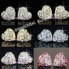 SALE 18K Rose / White Gold Plated Earrings made with Swarovski Crystal Xmas E412