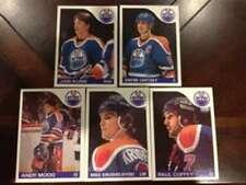 1985-86 Topps Edmonton Oilers Team Set 5 Cards Wayne Gretzky MINT