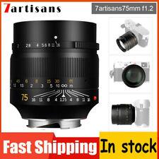 7artisans 75mm F1.25 APS-C Camera Prime Len For Leica M240 M3 M5 M6 M7 M8 M9 M10