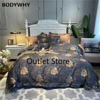 Luxury Egyptian Cotton Bedding Set Chinoiserie Blossom Duvet Cover  Bed Sheets