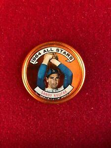 "1964, Sandy Koufax, ""TOPPS""  ALL-STAR Coin (Scarce / Vintage)"