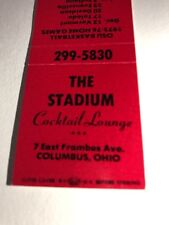 Vintage Matchbook Cover The Stadium Cocktail Lounge Columbus Ohio 1975
