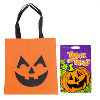Halloween Fabric Jack O Lantern Tote Bag and Jack o Lantern Trick or Treat Bag