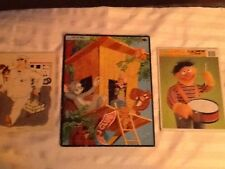 Vintage 1957 Tom And Jerry Jigsaw Puzzle, With Two Vintage Bonus Puzzles