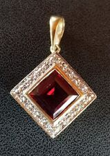 9ct Gold DIAMOND & RUBY PENDANT