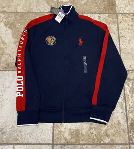 Polo Ralph Lauren Cookie Spellout Track Jacket Size Medium New With Tags