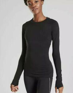 Athleta  Women's Momentum Top Size Small Color Black