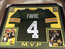 Brett Favre #4 Signed Green Bay Packers 35x43 Custom Framed Jersey (FAVRE COA)
