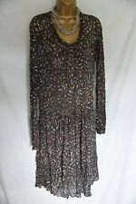 Sandwich, sheer dress with stretch sz xl