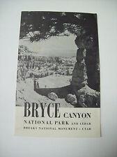 BRYCE CANYON NATIONAL PARK AND CEDAR BREAKS NATIONAL MONUMENT UTAH