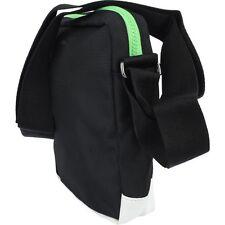 ADIDAS ORIGINALS Mini Flight / Shoulder Bag in Black, white base green zip