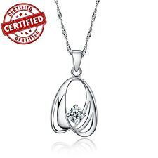 Certified Gold Plated Sterling Silver Fashion Design Pendant w/ 18'' Necklace