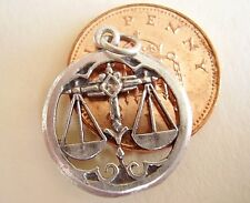 BEAUTIFUL ' LIBRA ' SOLID STERLING SILVER ZODIAC CHARM