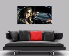 "DRIVE ANGRY BORDERLESS MOSAIC TILE WALL POSTER 47"" x 25"" NICHOLAS CAGE AMBER"