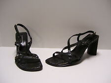 Kenneth Cole Womens Shoes Sz 6.5 M US Black Snake Print Heels Sandals Dress