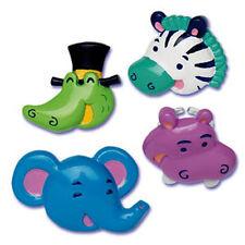 Zoo Animal Cupcake Rings Jungle Safari Favors Cake Toppers Decorations Picks 24