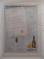 1974 Print Ad Heublein Brass Monkey Cocktail ~ Dead or Alive?