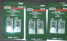 Kato Unitrack 3 pks 20-048 USA style bumpers N scale