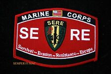 MOS SERE US MARINES HAT PATCH PIN UP SURVIVAL EVASION RESISTANCE ESCAPE RECON