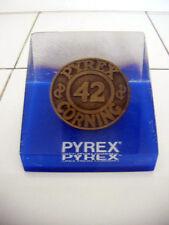 rare pyrex lucite paperwieght mid century modern design
