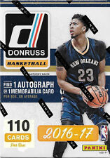2016 2017 DONRUSS Basketball Unopened Box One AUTOGRAPHED or Jersey Card Per Box