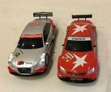 2pc Lot SCX Scalextric COMPACT 1/43 Slot Cars AUDI A4 DTM & MERCEDES C Class NEW
