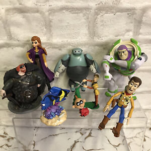 Disney Figure Bundle X 8 Small Plastic Mixed Lot -Toy Story Bayomax Cake Toppers