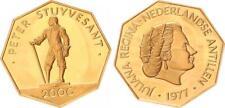 Niederländische Antillen 200 Gulden 1977 Gold 1977 PP Aulage 6878 Ex.