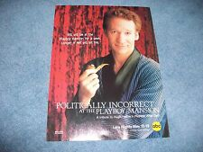 2000 Politically Incorrect with Bill Maher At The Playboy Mansion Ad