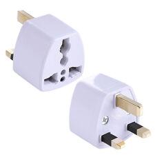Travel Adaptor 3 Pin Plug Universal USA/EU/CN/ASIA/AUSTRALIA to UK G PH007 White