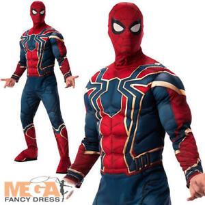 Iron Spider Mens Fancy Dress Spider-Man Superhero Adult Avengers Endgame Costume