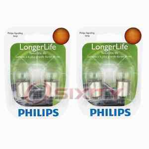 2 pc Philips License Plate Light Bulbs for Cadillac Series Series 60 yj
