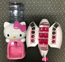 """Hello Kitty Water Dispenser 19"""" Tall Holds 8 Glasses Water Plus Jade Plane Top"""