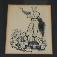 RARE PAINTING c1945 BY ELTON FAX African American Artist 11 1/4 X 15 1/4 FRAMED