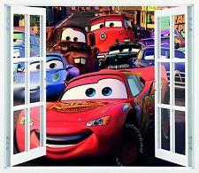 Mural vinilo impreso ventana CARS  87CMX100CM  N39