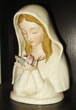 Vintage Porcelain Virgin Mary Figurine Music Box San Francisco Music Box Co Nr