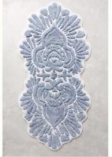 Anthropologie Riviera Bath Mat Blue White 100% cotton NEW