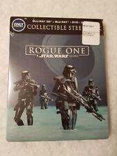 Rogue One A Star Wars Story STEELBOOK 3D + Blu Ray Best Buy EMBOSSED Region Free
