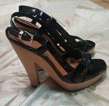 SCHUTZ scarpa shoes donna girl size 37 pelle leather  nero black