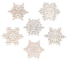 6 Untersetzer »Scheeflocken« aus Holz. Weihnachtsdeko - Baumschmuck - Fenster