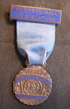 1915 Pennsylvania Governor Inaugural Badge Martin Grove Brumbaugh Ribbon Medal