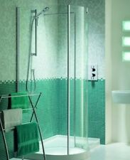 MATKI CLEARANCE WALK IN RIGHT HAND SHOWER ENCLOSURE WALL & PROFILE 900MM WIC1206