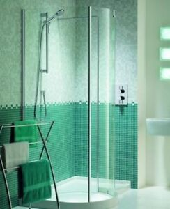 Matki Right Hand 900mm Wide Bathroom Shower Enclosure Wall & Profile WIC1206