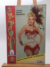 Marilyn Monroe Rare magazine Marilyn on the front cover of Piff no 10 1954