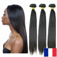 TISSAGE BRESILIEN EXTENSION DE CHEVEUX HUMAIN 100% NATUREL VIRGIN REMY 100G 5A+