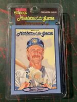 1993 Donruss  Masters Of The Game Robin Yount Brewer Showing Sealed Pack