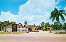 Ft Myers Florida Chrome Rivers Edge Tourist Park Tamiami Trail Postcard c1960s