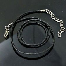 10/20/50PCS Popular Black Real Leather Cord Choker Adjustable Braided Necklace