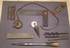 Vintage Disston Square, Antique Lufkin Tape, Plane, and Other Vintage Tools LOT